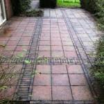 terras reiniging na reiniging